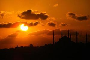 City silhouette of Istanbul Bosphorus photo
