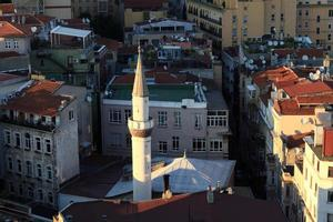 View of minaret from Galata Tower photo