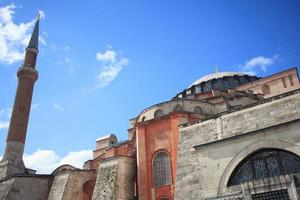 minarete de hagia sophia, estambul, turquía foto