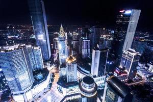 illuminated skyscrapers in chongqing photo
