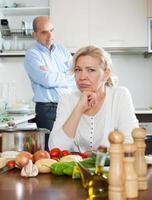 Mature family having quarrel