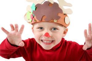Reindeer child photo