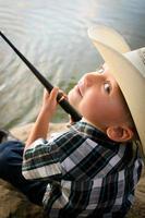 Child fishing photo