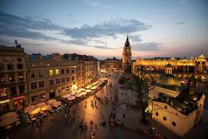 plaza del mercado de cracovia, polonia foto
