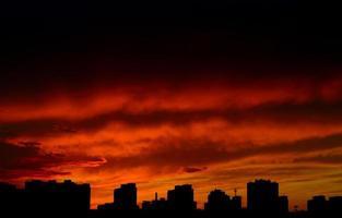 puesta de sol. foto