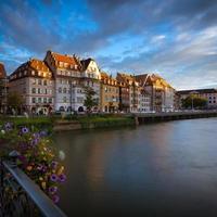 puesta de sol de estrasburgo foto