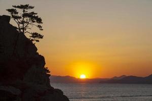 puesta de sol; Busan foto