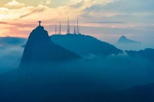 Sunset view of Rio de Janairo, Brazil photo