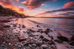 Pebbles sunset photo