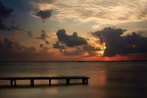 puesta de sol de Cancún