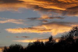 sunset clouds photo