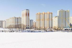 Construction of residential quarters in Moscow