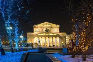 Teatro Bolshoi en la noche
