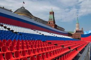 Empty stand on Red Square