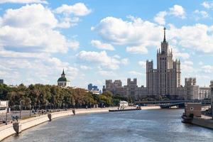 view of Moskvoretskaya Embankment in Moscow