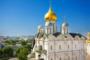 Vista de la cúpula del palacio del patriarca, el Kremlin de Moscú