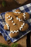 Homemade Decorated Gingerbread Men Cookies