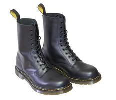 Men's leather high boots. photo
