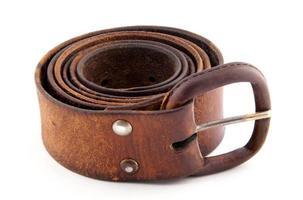 Leather belt for men photo