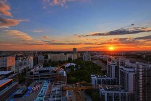 Sunset over Warsaw photo