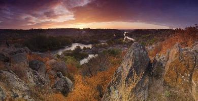 puesta de sol rural de otoño foto