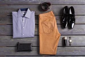 Clothes of business men.