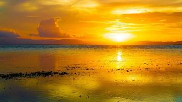 sunset  tropical sea