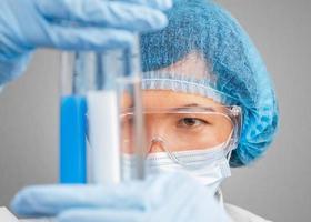Laboratory female assistant photo
