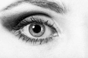 female eye macro photo