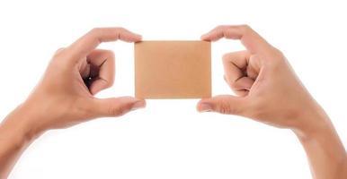 tarjeta de crédito mano femenina foto