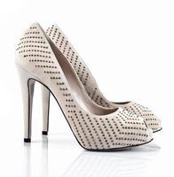 Female shoes isolated on white photo