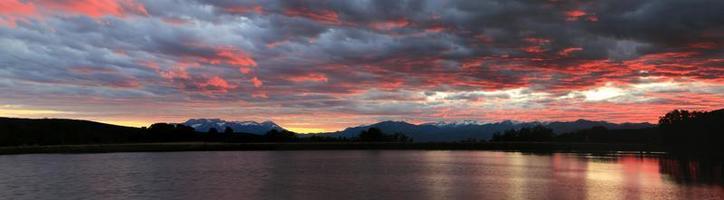 puesta de sol panorámica de utah foto