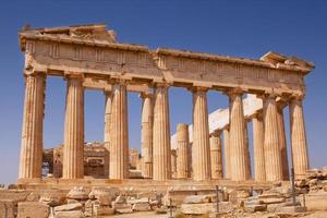 Parthenon on Akropolis in Athens photo