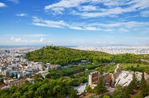 Landscape of Athens: view from the Acropolis photo