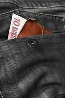 Euro wallet photo