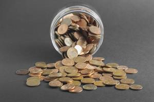 Bottle and money photo
