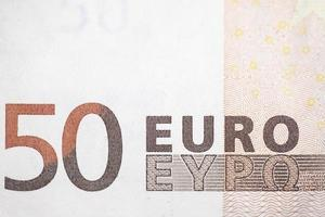 Fifty euro bill photo