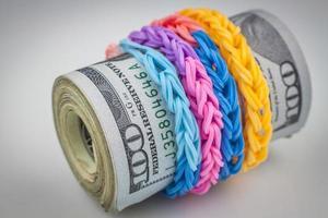 Bundle of money photo