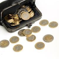 Money, finances. Euro coins photo