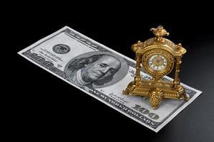 el tiempo es dinero. foto