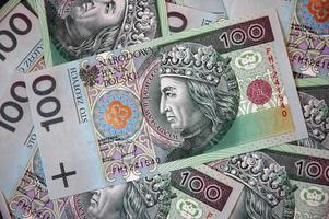Lots of Polish money photo