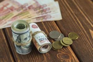 Money on the desk photo
