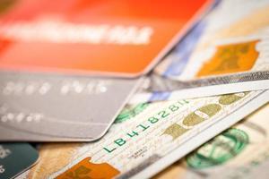 Dollars and Credit Card photo