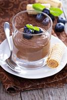 Healthy avocado chocolate pudding