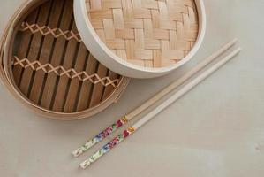 traditional bamboo steamer