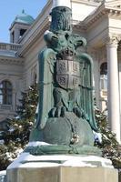 Serbian double headed eagle photo