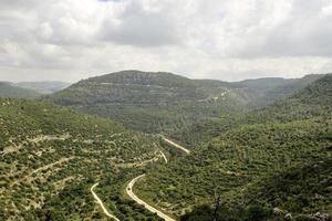 Railway in Jerusalem mountains, Israel
