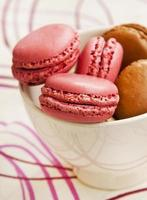 macarons de frambuesa foto