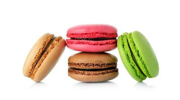macaron isolated on white background photo