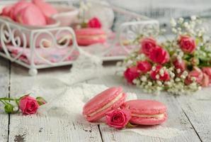 macarons de baunilha